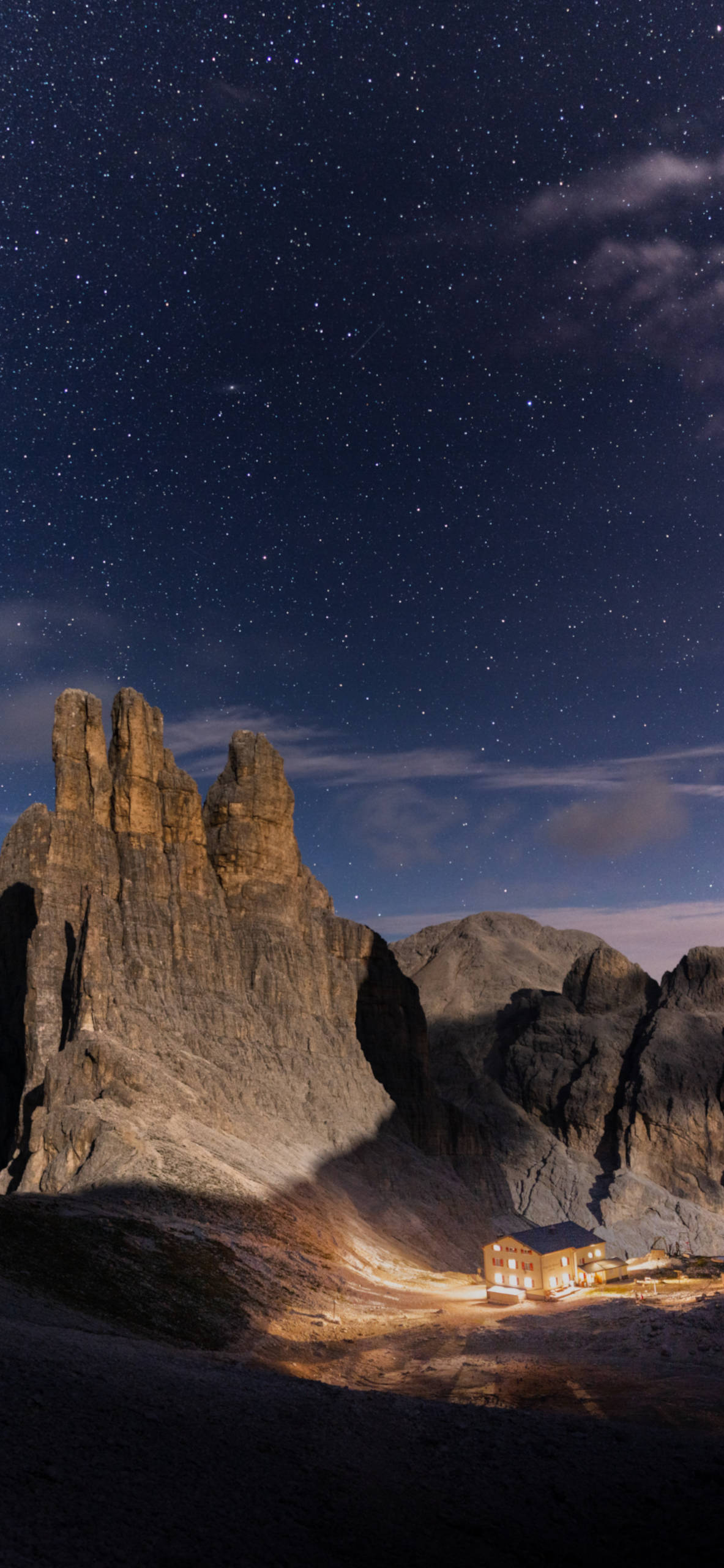 iPhone wallpapers mountain house stars Mountains