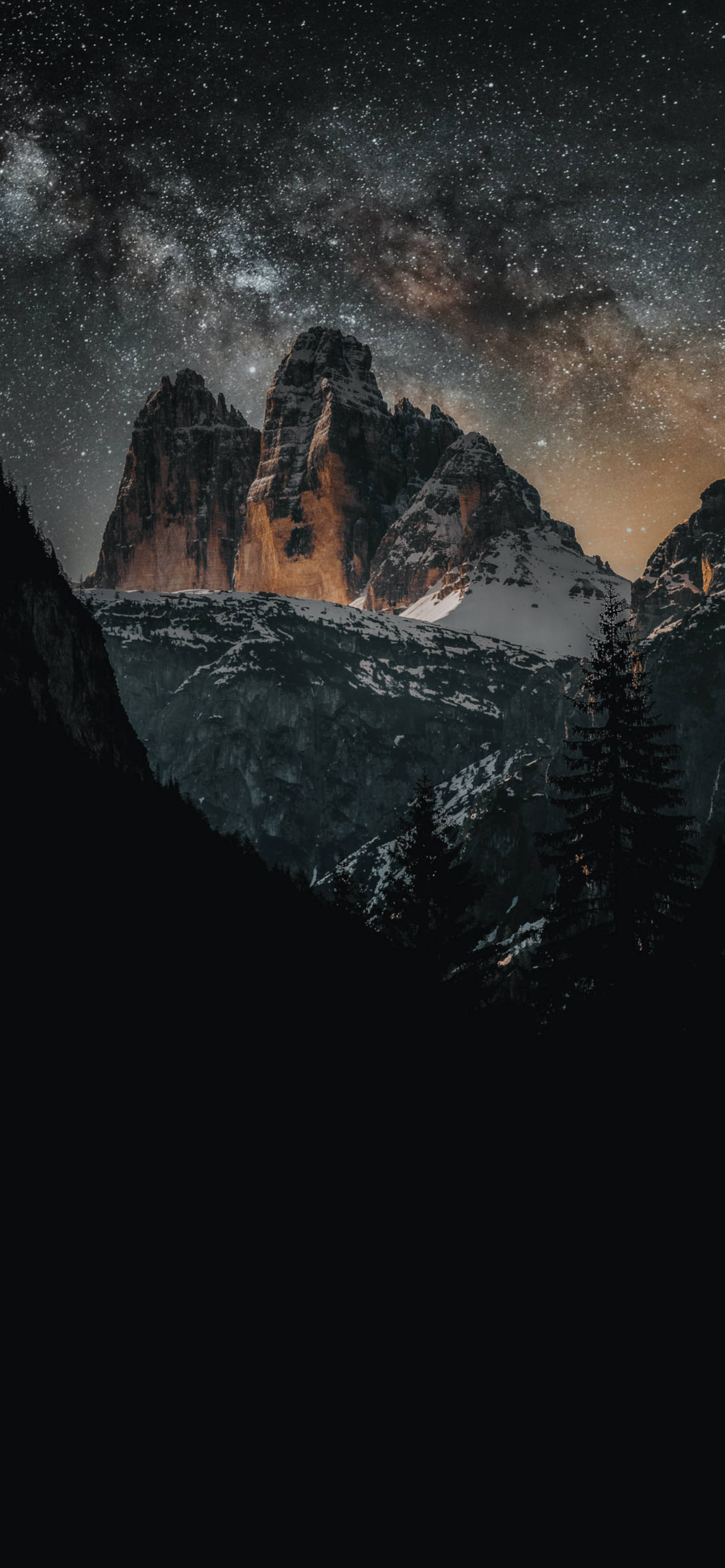 iPhone wallpapers stars mountains Stars