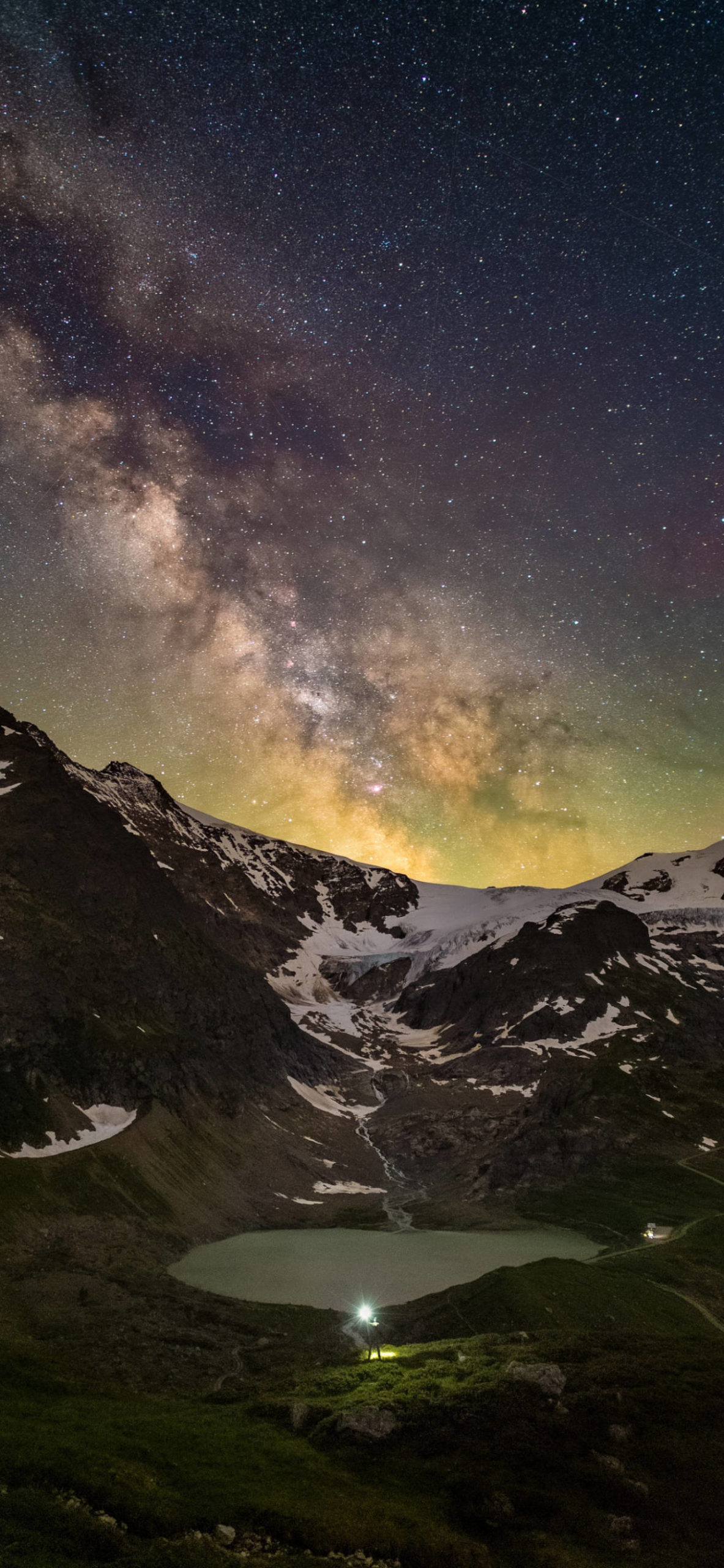 iPhone wallpapers stars lake mountains scaled Stars