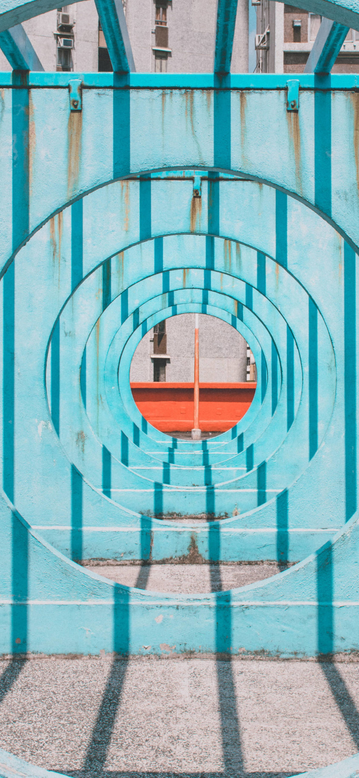iPhone wallpapers architecture circle tunnel scaled Architecture