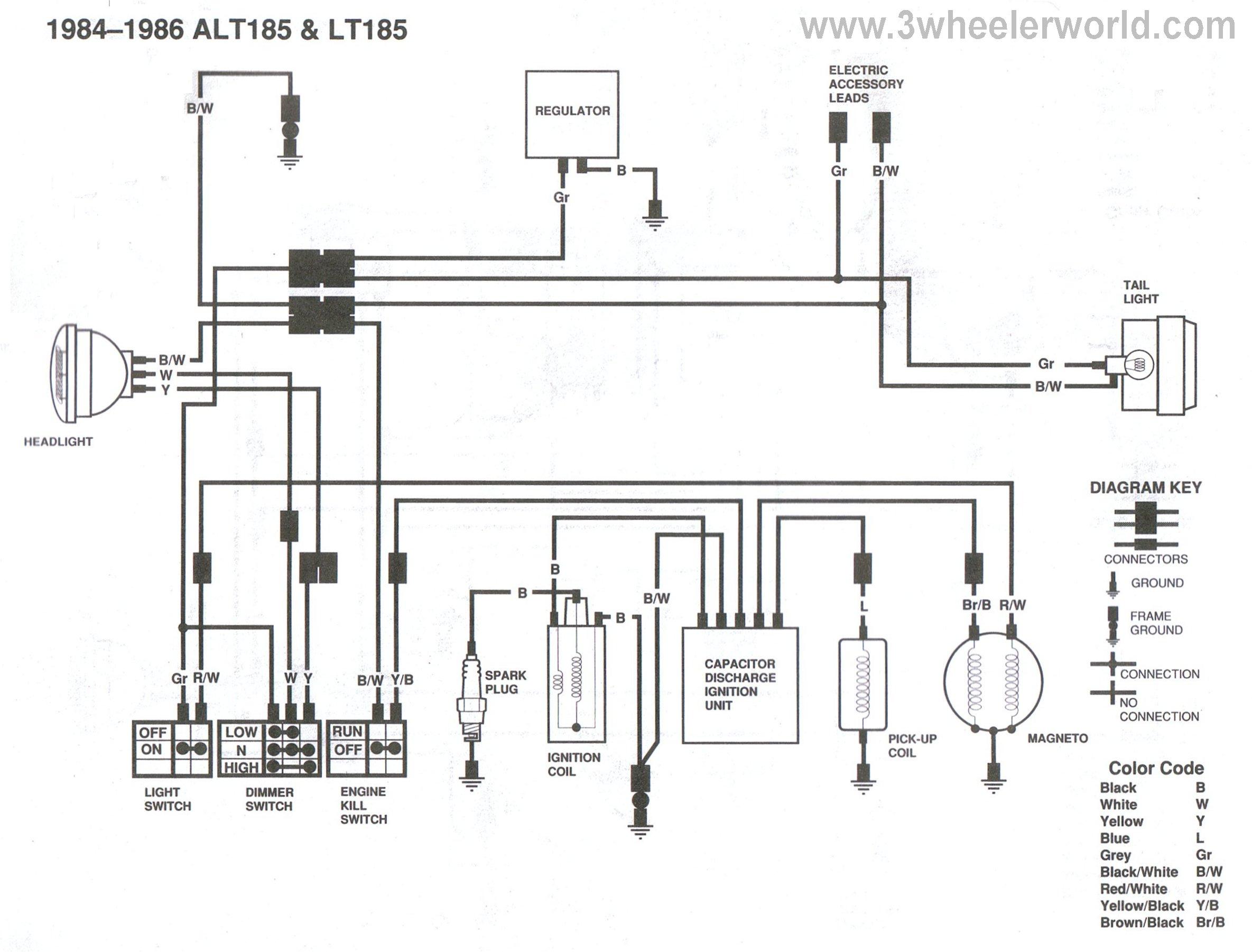 ALT185LT185x84Thru86?resize=665%2C506 1987 honda 125 fourtrax wiring diagram wiring diagram,1986 Honda Trx 125 Wiring Diagram