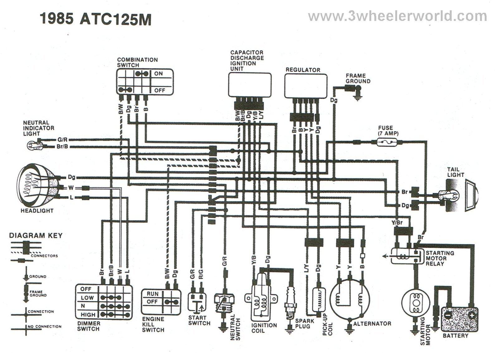 ATC125Mx85?resize=665%2C474 1987 honda 125 fourtrax wiring diagram wiring diagram,1986 Honda Trx 125 Wiring Diagram