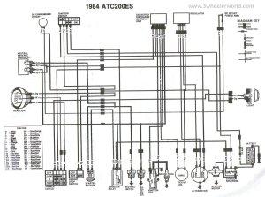 WIRING DIAGRAM FOR 1984 HONDA TRX200  Auto Electrical Wiring Diagram