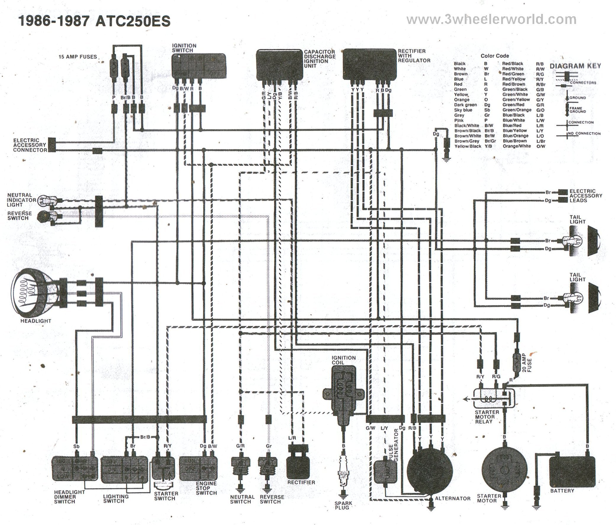 Yamaha 250 4 Wheeler Engine Diagram