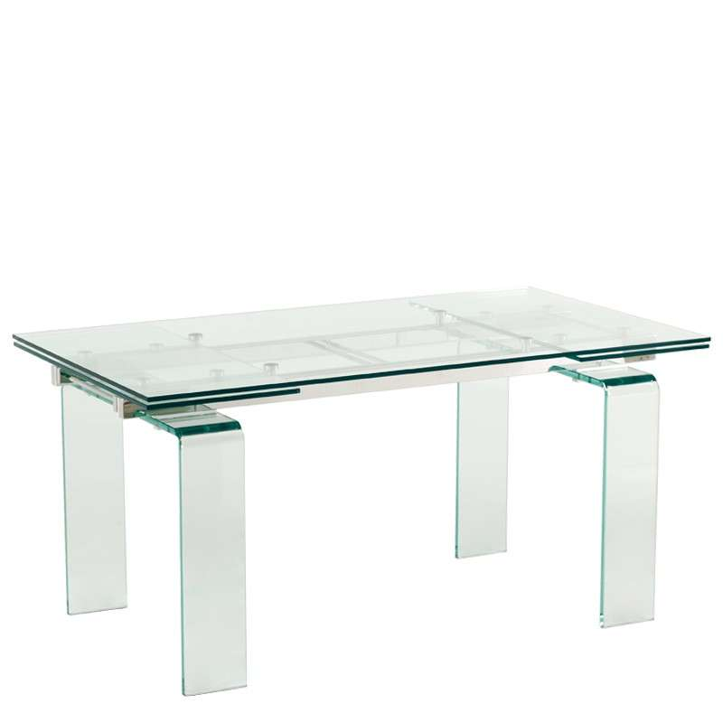 table design rectangulaire en verre avec allonges tania 2 table avec allonges design tania 3 table extensible design en
