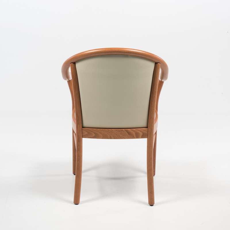 fauteuil italien beige en bois avec assise et dossier rembourres manuela 10
