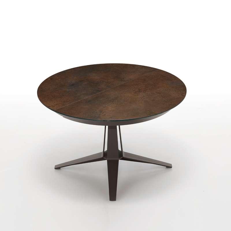 Table Design Ronde Extensible En Cramique Pied Central En