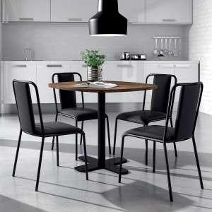 table ronde pour cuisine en stratifie avec pied central diametre 70