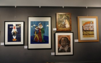 Artwork from Salute to Shakespeare Exhibition