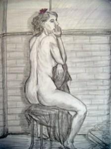 "Willow by Brian Woollard, Graphite on paper, 23.5"" x 16.5"""