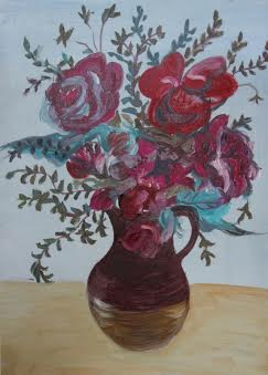 Vase of Flowers by Janice Andrews - SOLD