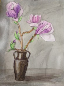 Magnolia by Val Cloake, Watercolour on Paper