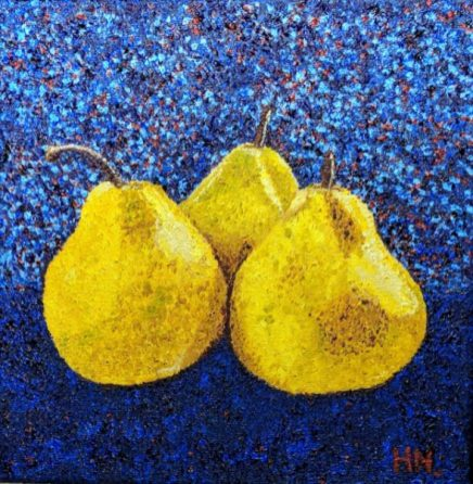 Pointillism Pears by Helen Norfolk-£65