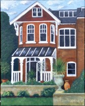 Rupert's House by Helen Norfolk, Acrylic on Canvas Board, 28cm x 35cm - SOLD