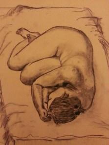 Sleep by Sibel Roller-Walach, Charcoal 2013