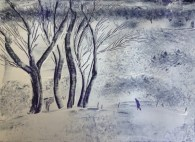Trudging Jenny 'after Victoria Crowe' by Val Cloake - SOLD