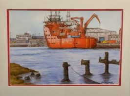 Unloading Great Yarmouth by Claire Corbett-£45