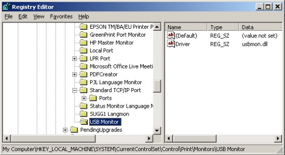 USB and TCP/IP printer ports not listed - 404 Tech Support