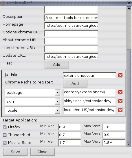 Extension Developers extension Screenshot