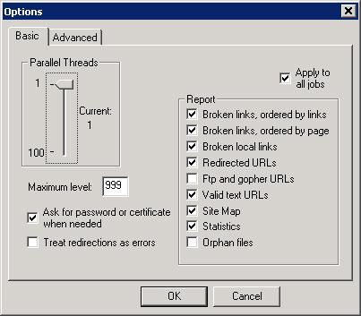 xenu checking for broken links 404 tech support