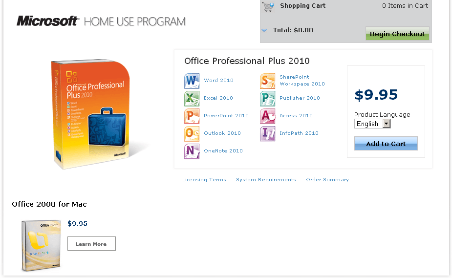 Using the Microsoft Home Use Program for Office 2010 - 404 Tech Support