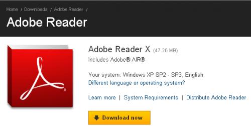 adobe reader x download