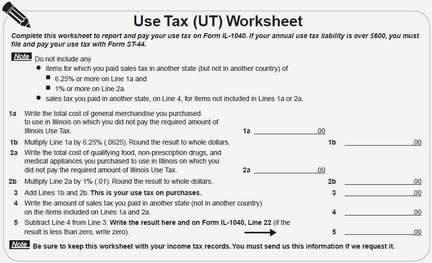 Line 22 Of Your Illinois State Taxes IL1040 or Reporting Sales – Sales Tax Worksheet
