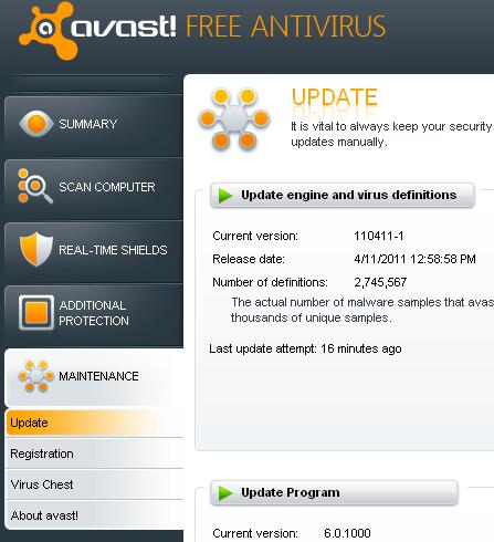 avast antivirus detect malware