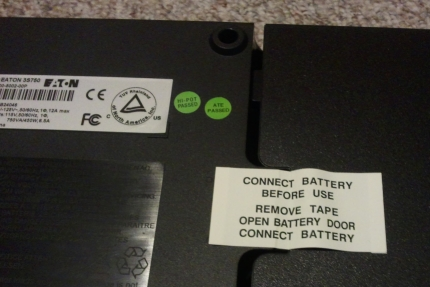 Connect battery before use