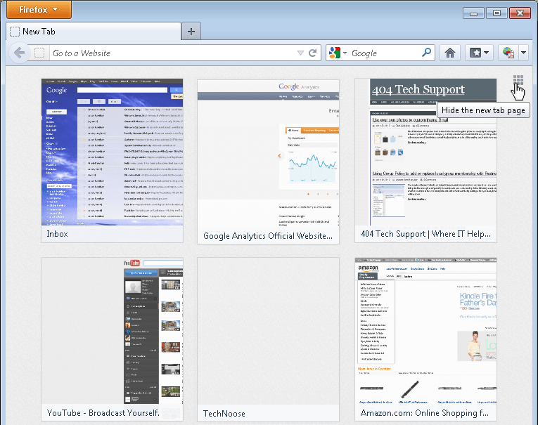 Disable Firefox's new 'SpeedDial' New Tab Page - 404 Tech Support