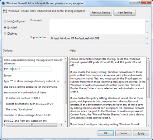 Use Group Policy to allow ping and remote management on