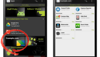 organizations can get a private channel in google play for their internal apps