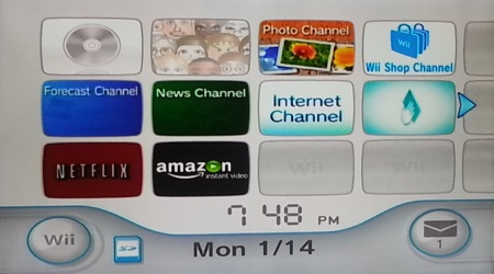 wii menu with amazon