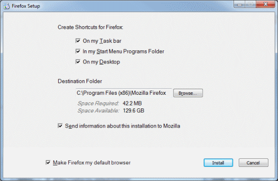 Firefox installer stub becomes the default download for Windows