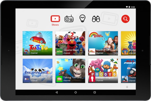 YouTube Kids tablet