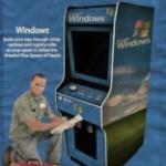 Modern software as 1980s arcade ads