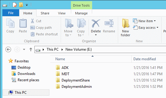 Setting up Microsoft Deployment Toolkit 2013 Update 2 in