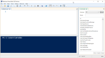 PowerShell ISE Preview does not add much but potential