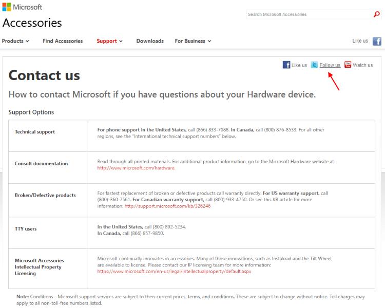 MicrosoftHardwareContact