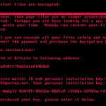Screenshot of Petya Ransomware