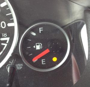 An Empty Tank Of Gas