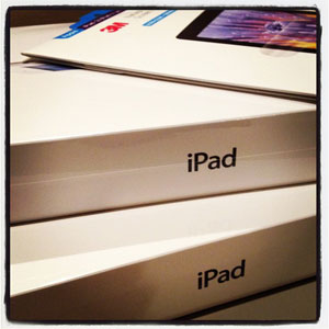 Our New iPads Still In The Packages