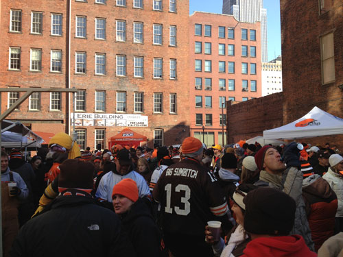 The Tailgating Crowd At Barley House