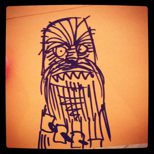 A Super Ugly Rendering Of Chewbacca