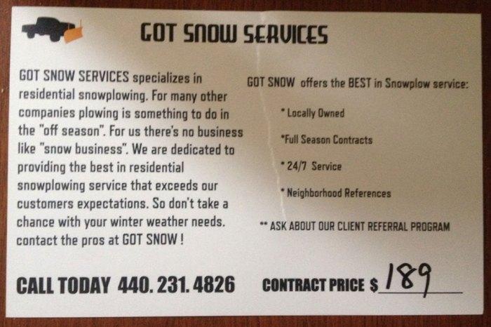Got Snow 2013 Flyer Back