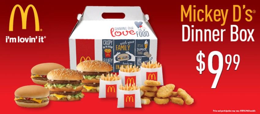 Mickey D's® Dinner Box