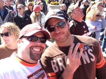 Chewie & Brad At The Browns Game