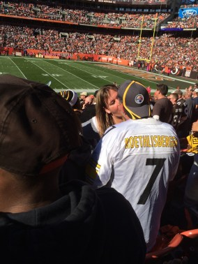 Steelers Fans Making Out