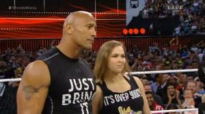 WrestleMania 31 - Rock & Rousey