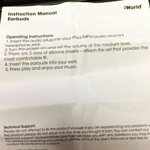 Earbud Instructions